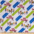 Silly Snowman Diagonal Stripe White