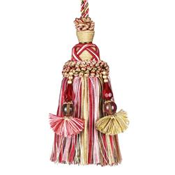 "Fabricut 10.75"" Opulence Key Tassel Holiday"
