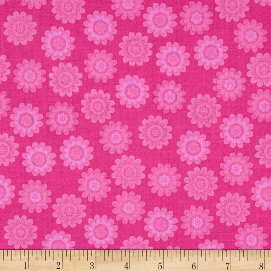 Let's Play Dolls Daisy Flower Dot Hot Pink