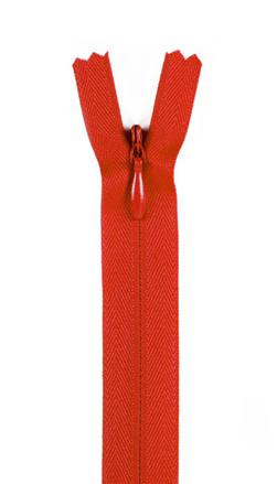 "7/9"" Poly Invisible Zipper Atom Red"