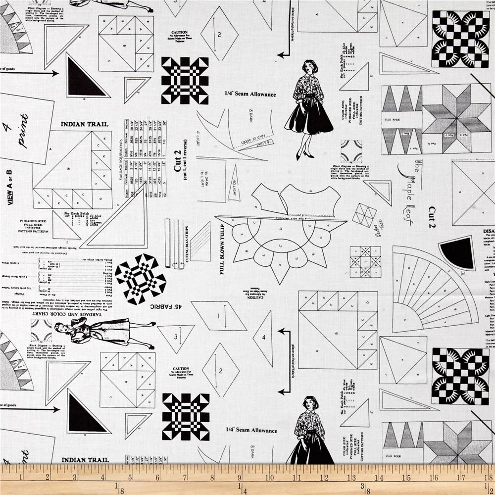 Moda Sew & Sew Pattern Pieces Licorice-Cream