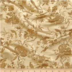 Chinese Brocade Birds In a Tree Gold