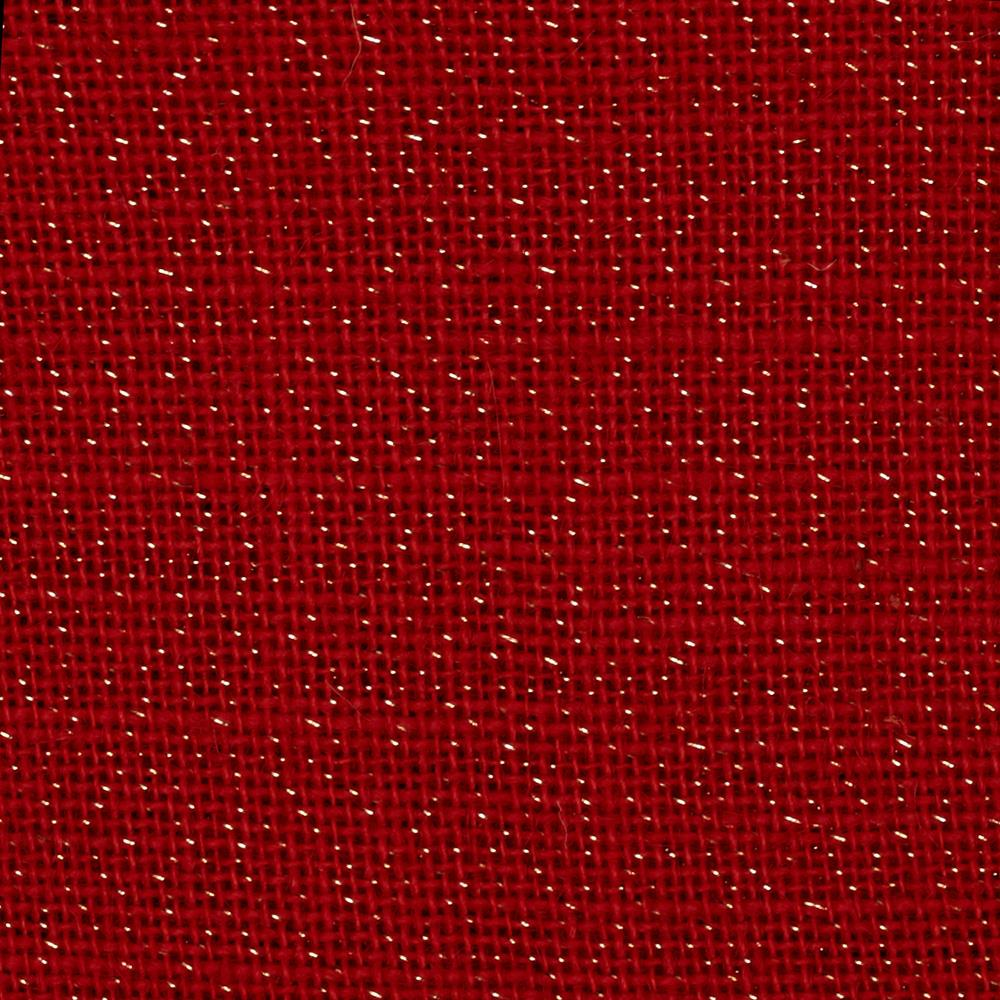 60 sparkle burlap red discount designer fabric