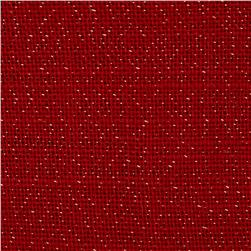 60'' Sparkle Burlap Red Fabric