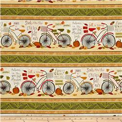 Autumn Road Repeating Stripe Multi