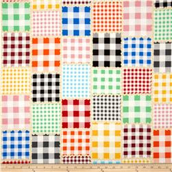 Paper Dolls School House Gingham Quilt Multi