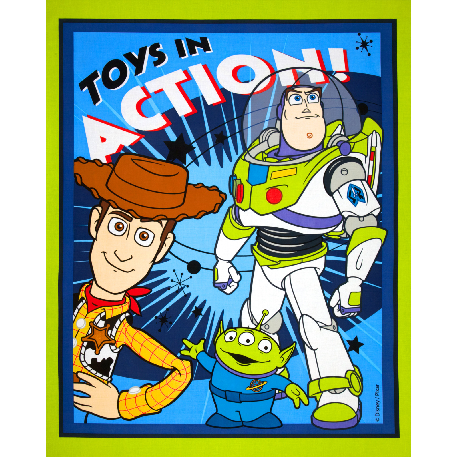 Disney Buzz Lightyear Woody & Friends Panel Blue