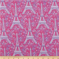 Michael Miller Eiffel Tower Collection Orchid Gray Princess