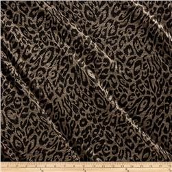 Telio Reflection Foil Knit Animal Print Gold