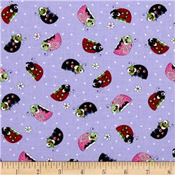 Lazy Little Ladybugs Ladybugs Purple