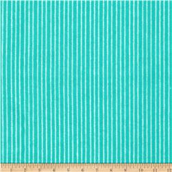 Aunt Polly's Flannel Pin Stripe Aqua/White