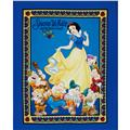Disney Snow White & Seven Dwarves Panel Blue