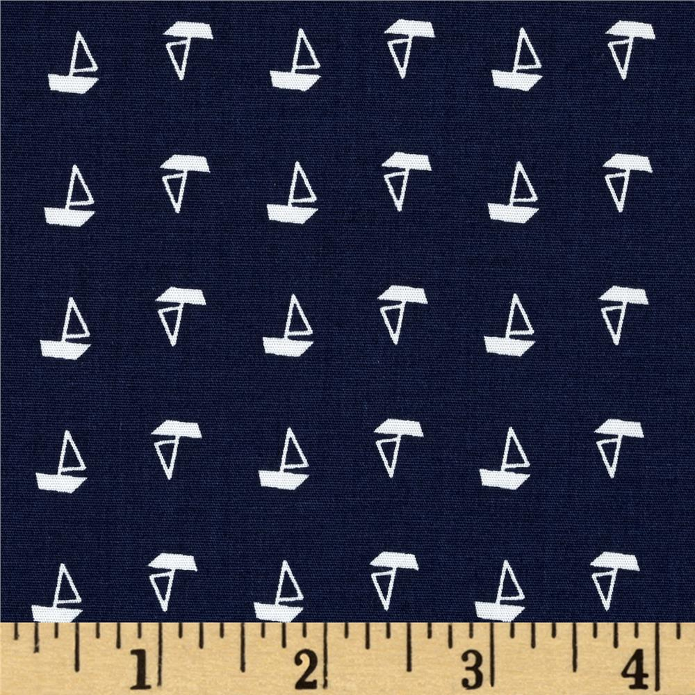 Morocco Blues Stretch Nautical Navy/White