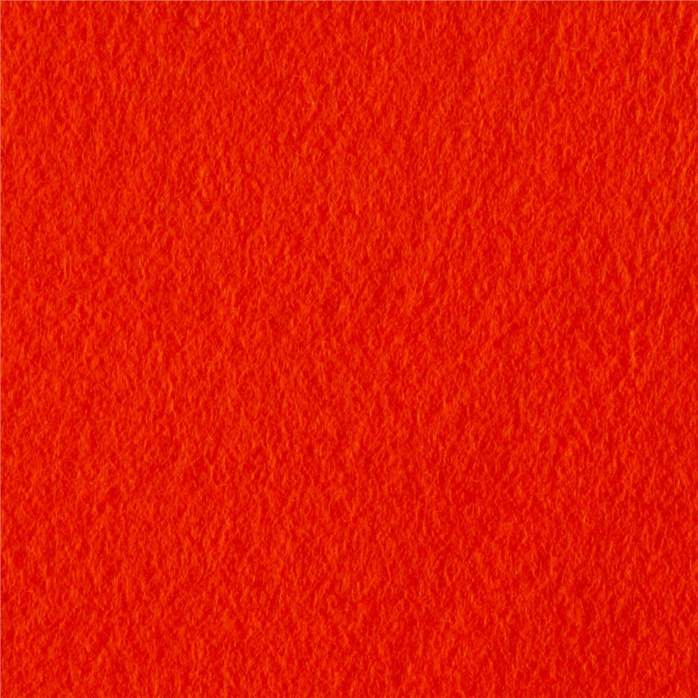 Polar Fleece Solid Tangerine