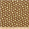 Moda Print Charming Etched Flowers Mocha