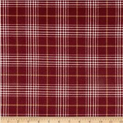 Timeless Treasures Oxford Flannel Glen Plaid Merlot