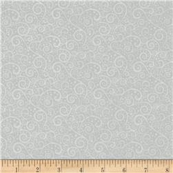 Vanilla Icing Scroll Light Grey