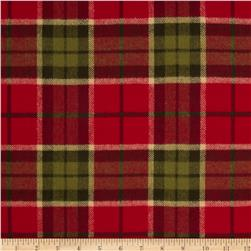 Primo Plaids Christmas Flannel Giant Plaid Red