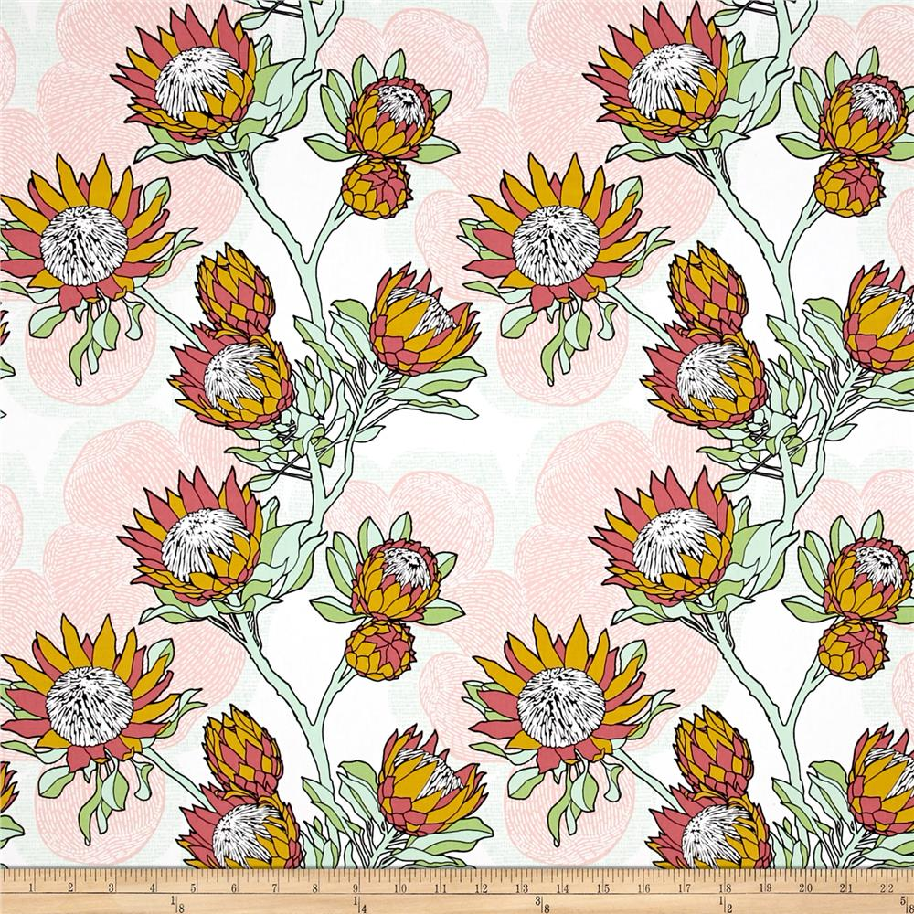 zoom joel dewberry cali mod home decor sateen twill protea cactus - Discount Designer Home Decor