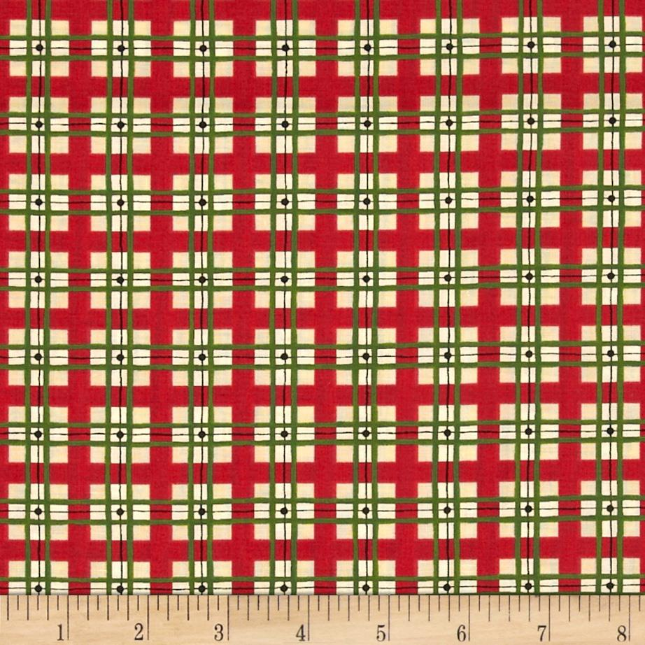 Holly-Days Greetings Plaid Red/Green