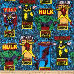 Marvel Comics Fleece Marvel Comic Posters Blue