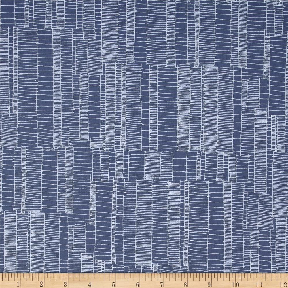Kaufman Doe Jagged Stripe Slate