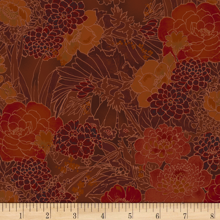 INOpets.com Anything for Pets Parents & Their Pets Miyako Garden Rust Fabric