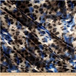 Panama Stretch Satin Spots Blue/Grey