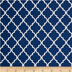 Moda Quattro Quatrefoil Piccalo Nautical Blue