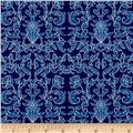 Riley Blake Into the Garden Damask Navy