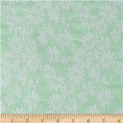 Stretch Jacquard Floral Mint