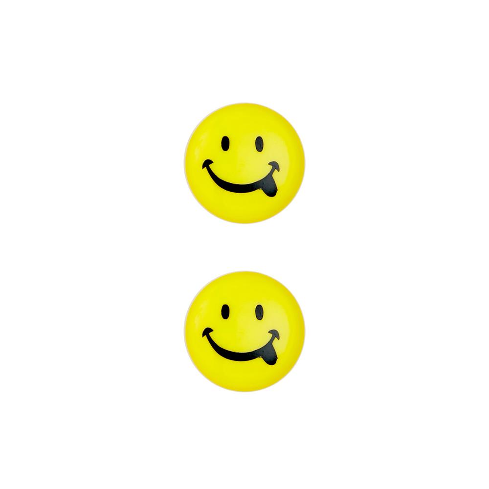 Dill Novelty Button 11/16'' Smiley Face Yellow