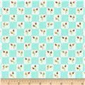 Moda LuLu Lane Flower Patch Turquoise