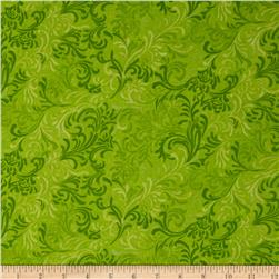"108"" Essential Flourish Quilt Backing Lime"