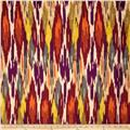 Iman Home Painted Pavilion Antique Velvet Ikat Spice