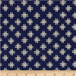 Nancy Gere Low Country Indigo Linen Crosshatch Navy