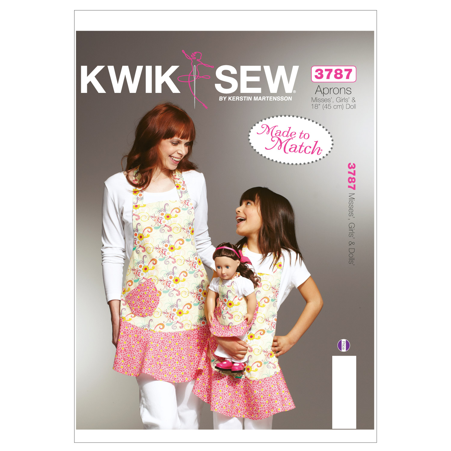 Kwik Sew Misses Girls' & Dolls' Apron Patterns