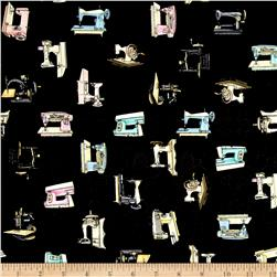 Cute as a Button Sewing Machines Black