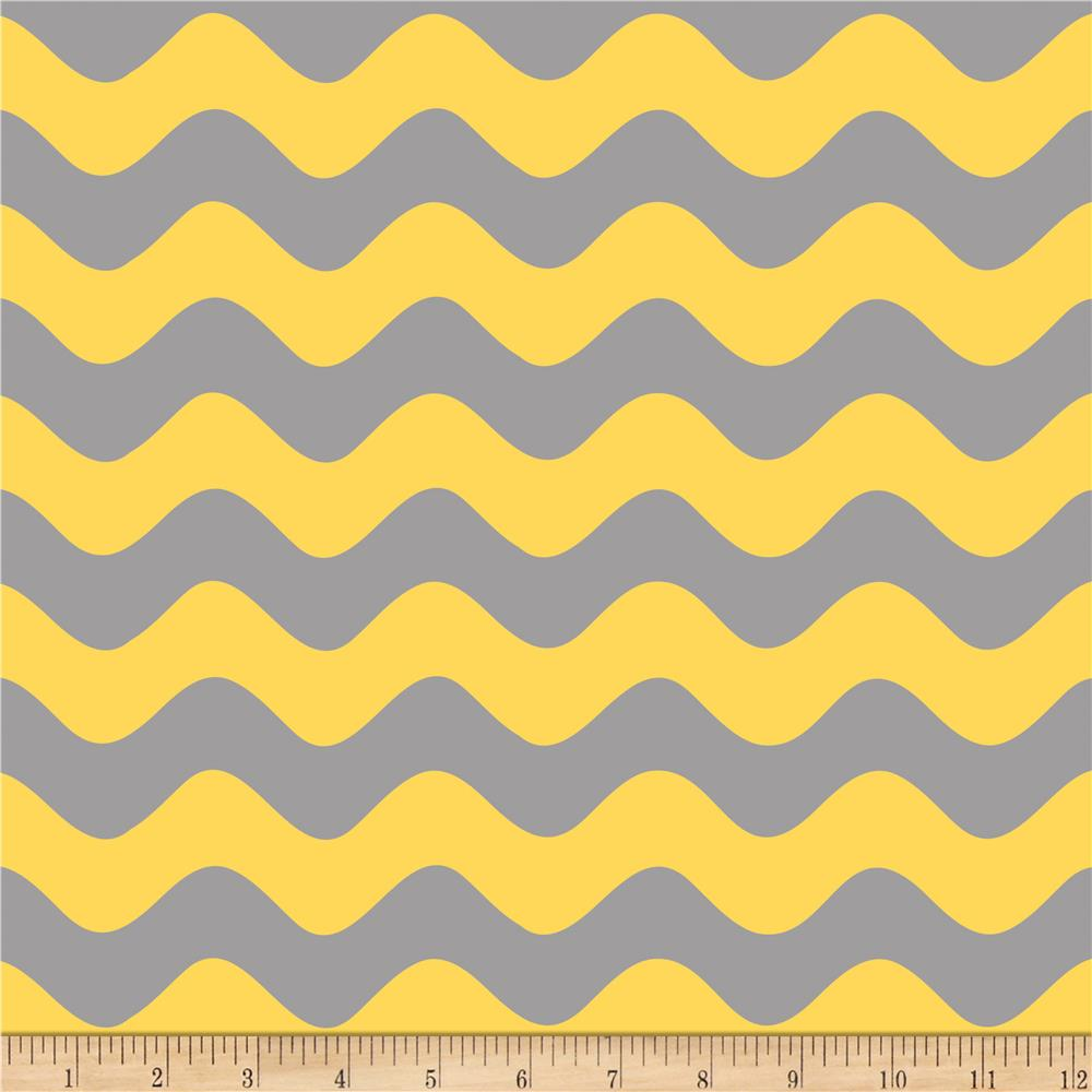 Riley Blake Wave Tone on Tone Gray/Yellow