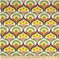 Robert Kaufman Auntie's Attic Mod Floral Stripe Canvas Garden