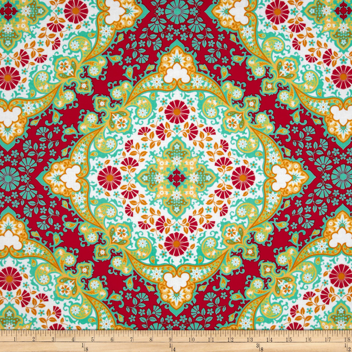 Joel Dewberry Notting Hill Kaleidoscope Poppy Fabric