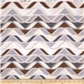Kaufman Vantage Point Wavy Stripe Earth