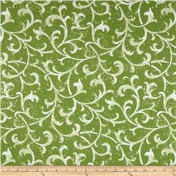Robert Allen Promo Cheval Slub Leaf Fabric
