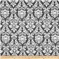 Michael Miller Laminated Cotton Dandy Damask Black