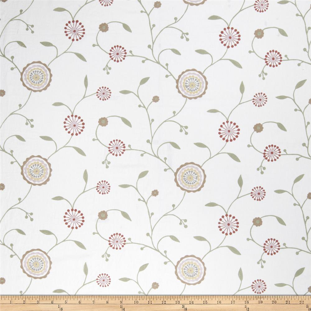 Fabricut Agron Floral Linen Blend Dusty Rose