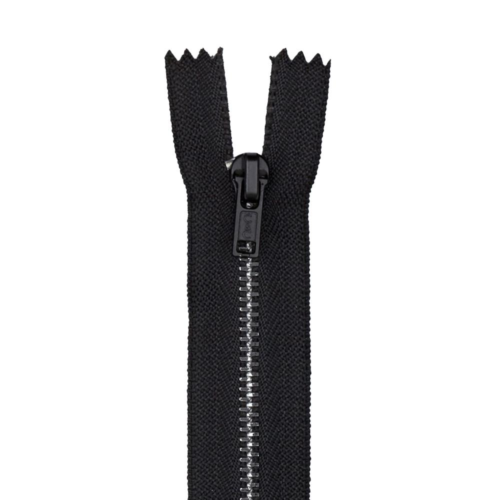"Metal All Purpose Zipper 22"" Black"