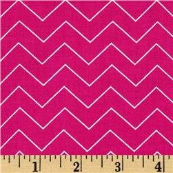 Zig Zag Chevron Raspberry Fabric