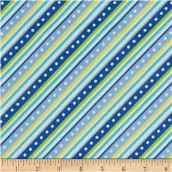 Kimberbell Little One Flannel Too! Flannel Diagonal Stripe Blue