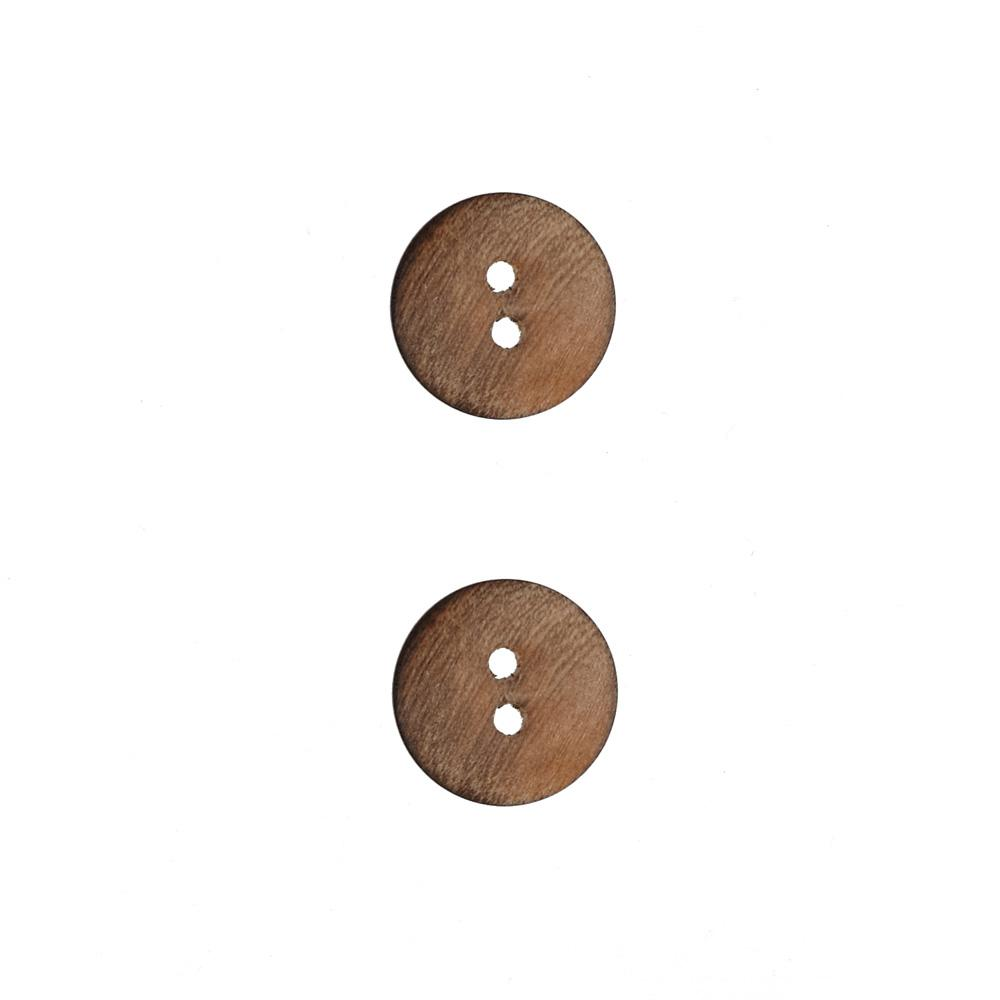 Wood Button 5/8'' Iroquois Natural