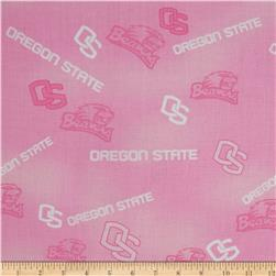 Collegiate Cotton Broadcloth Oregon State Pink